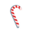 candy stick lollipop with stripes christmas sign vector image