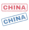 china textile stamps vector image vector image