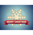 Christmas card with snowflake vector image vector image