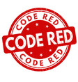 code red sign or stamp vector image vector image