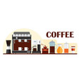 colorful template for banner design with coffee vector image