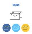 commercial mailing outline icons set vector image