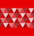 concept patchwork xmas design vector image vector image