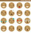 Cookie emoticons vector image vector image