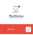 creative stethoscope logo design flat color logo vector image