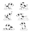 Cute puppy dog doodle character vector image vector image