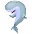 Cute whale cartoon waving vector image vector image
