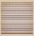 decorative borders in vintage style vector image