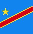 Democratic republic of the congo national current vector image