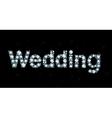 Diamond word wedding vector image vector image
