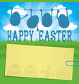easter eggs and a sticker vector image vector image