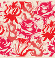engraved antique style roses seamless pattern vector image vector image