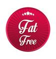 Fat free design vector image