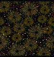 firework seamless pattern isolated on black vector image vector image