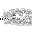 five tips for easy weight loss text background vector image vector image