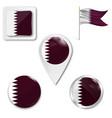 flag qatar vector image vector image