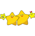 funny image the family of stars vector image