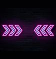 futuristic sci fi modern neon pine glowing arrows vector image vector image