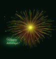 golden green radiant fireworks background copy vector image vector image