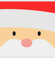 greeting card with santa claus big head face vector image vector image