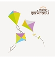 Happy makar sankranti vector image