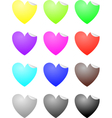 heart labels vector image vector image