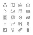home furniture thin icons vector image vector image