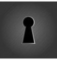 Keyhole on metal background vector image