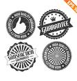 Label stitch sticker tag guarantee - - EPS10 vector image vector image