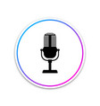 microphone icon isolated on white background vector image vector image