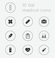 Modern flat icons collection of medical theme vector image vector image