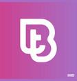 modern professional logo monograma bt in purple vector image vector image