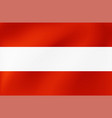 national flag austria beautiful vector image vector image