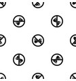 no butterfly sign pattern seamless black vector image vector image