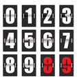 number clock counter vector image vector image