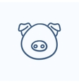 Pig head sketch icon vector image vector image