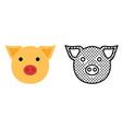 pig icon set pet symbol vector image