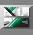 professional green geometric business banner vector image vector image
