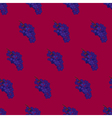 Purple burgundy and blue grape seamless pattern vector image vector image