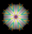 rainbow kaleidoscope vector image