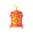 ramadan kareem poster gold lantern islamic symbol vector image vector image