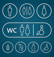 Restroom male female pregnant cripple oldster sign vector image vector image