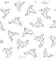 seamless pattern with origami birds vector image vector image