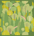 seamless summer forest pattern summer vector image vector image
