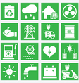 Set of energy saving icons - part 2 vector image