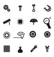set of icon of spare parts vector image