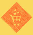 shopping cart icon with a recycle sign vector image vector image