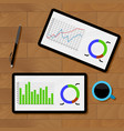 statistics analysis chart vector image