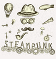 steampunk collection hand drawn vector image vector image