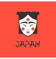 stylized of a beautiful geisha vector image vector image